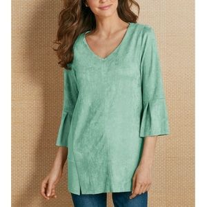 SOFT SURROUNDINGS Izzy faux suede tunic in mint